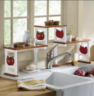 Two Tone Apple Sink Shelf Sink Shelf Apple Kitchen