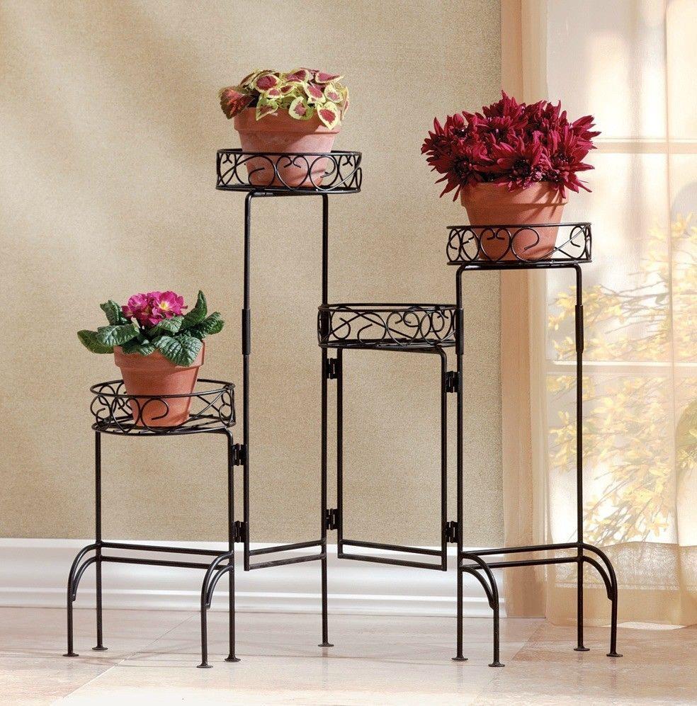 Metal Plant Holder Multi Level Planter Shelf Extendable Stand Flower Pot  Rack