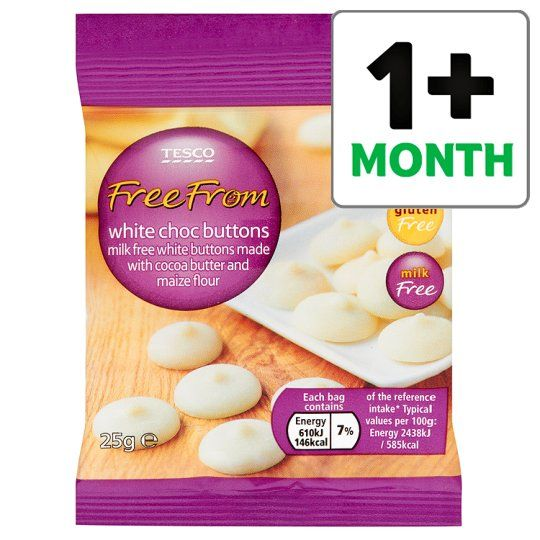 Free From White Chocolate Buttons 25g Tesco Groceries