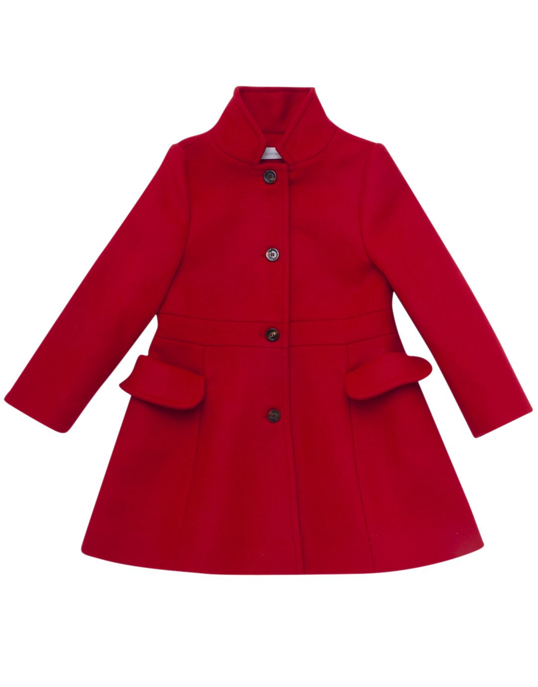 BABY DIOR Girls Dior Red Wool Coat | TILLTWELVE