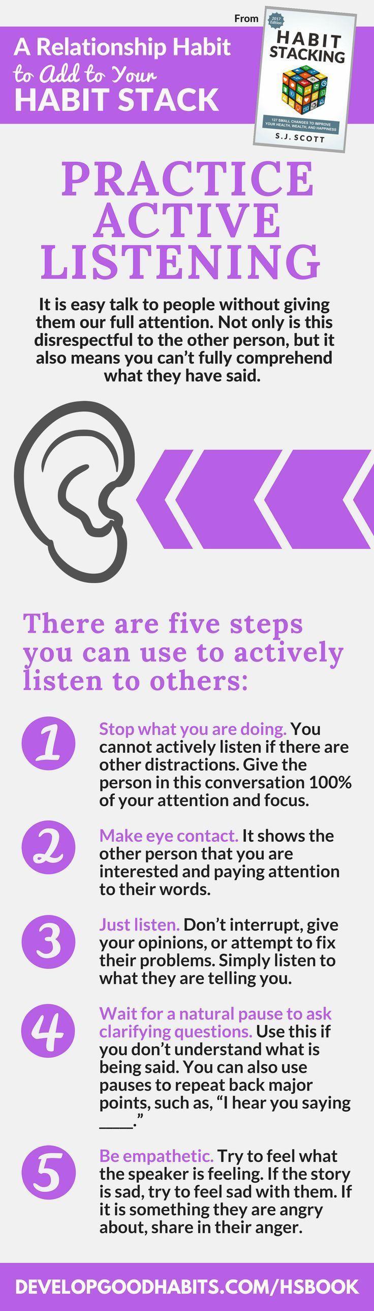 Psychology : Psychology : Psychology : Practice active listening ...