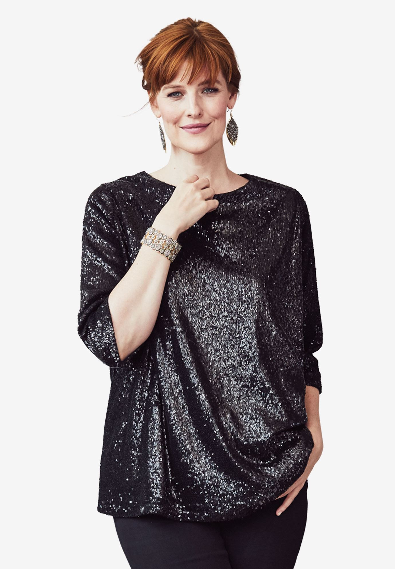 a166946705c632 Sequin Tunic - Women's Plus Size Clothing | Products in 2019 | Plus ...
