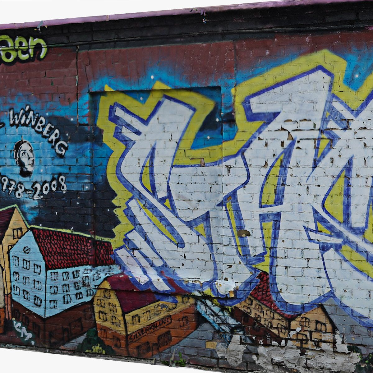 Graffiti wall d model d model dmodeling pinterest