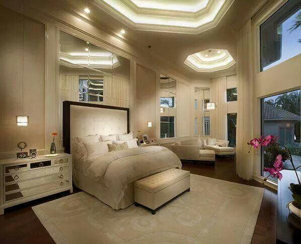 Master bedroom in totally white