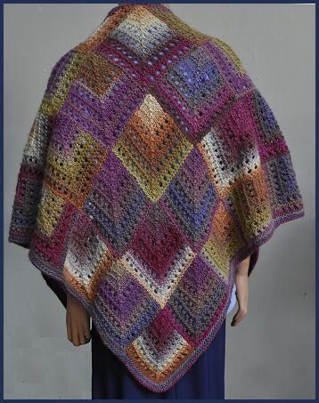 Mochi Plus Mitered Eyelet Shawl - Crystal Palace Yarns - free knitted shawl pattern
