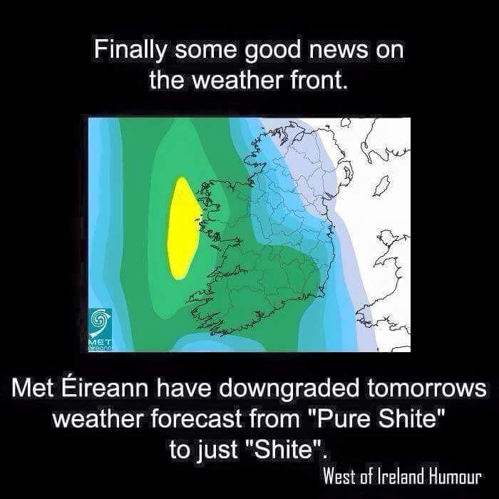 Typical Irish Weather Hahaha Irish Weather Irish Quotes Irish Funny