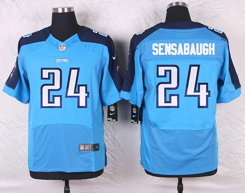 meet 4d20e f9adf Light Blue Coty Sensabaugh Men's Elite Tennessee Titans #24 ...