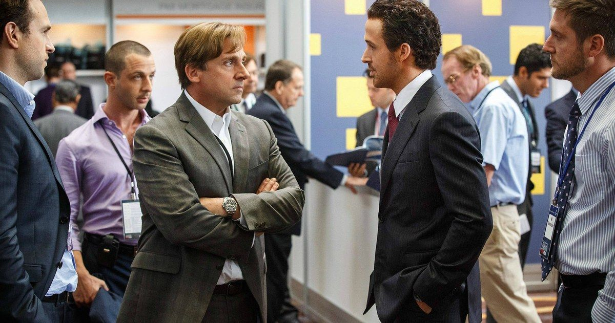 'Big Short' Trailer #2 Has Pitt, Gosling & Bale Taking on the Banks -- Brad Pitt, Ryan Gosling, Christian Bale and Steve Carell star as four strangers who take on big business in a new trailer for 'The Big Short'. -- http://movieweb.com/big-short-movie-trailer-2/