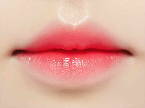 Gradient korean lips. (popularly called ulzzang lips