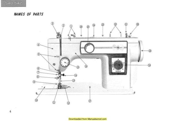 New Home Janome 542 Sewing Machine Instruction Manual