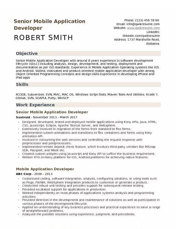 Android Developer Resume Tips And Templates Web Developer Resume Resume Objective Sample Resume Templates