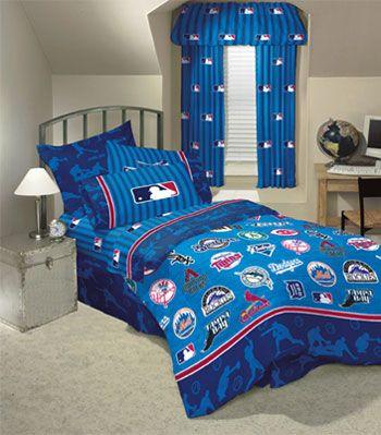 Mlb Playoff Baseball Bedding Sheet Set Twin Size Baseball Bed Sports Bedding Boys Bedding Sets