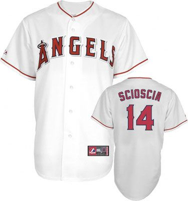 Mike Scioscia Jersey  Adult Majestic Home White Replica  14 Los Angeles  Angels of Anaheim Jersey fdccaca2389