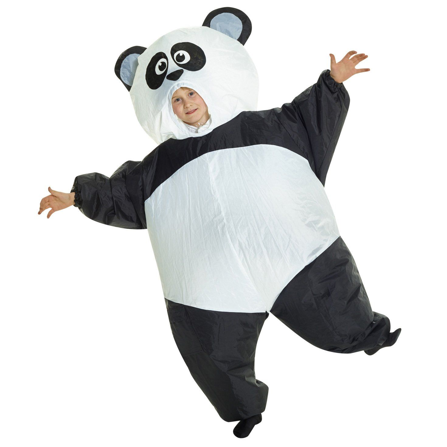 Inflatable Costume Air Blowup Panda Outfit Halloween Cosplay Fancy Dress Up