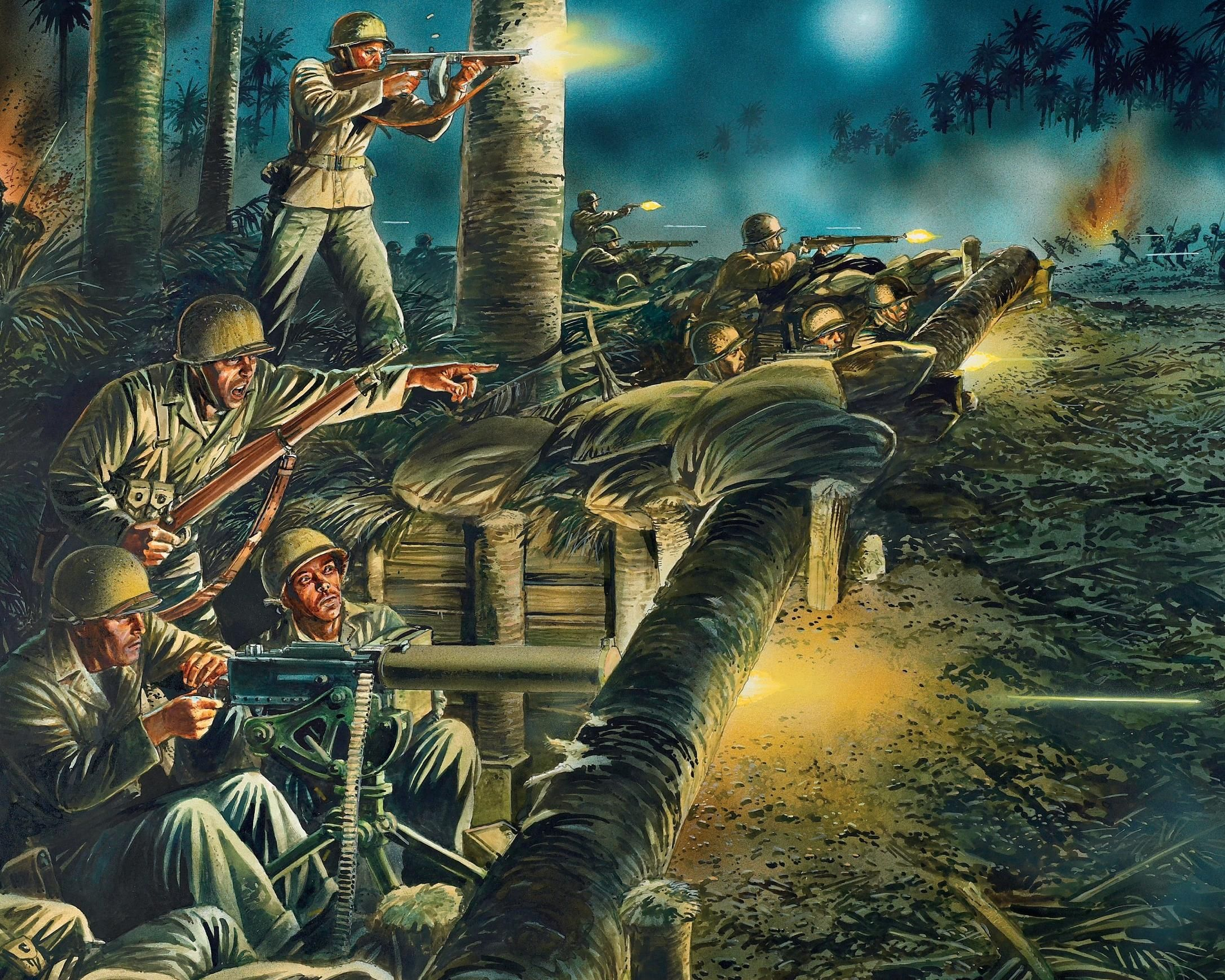 Decoration Americaine Militaire Us Marines Guadalcanal Wwii Military Art World War