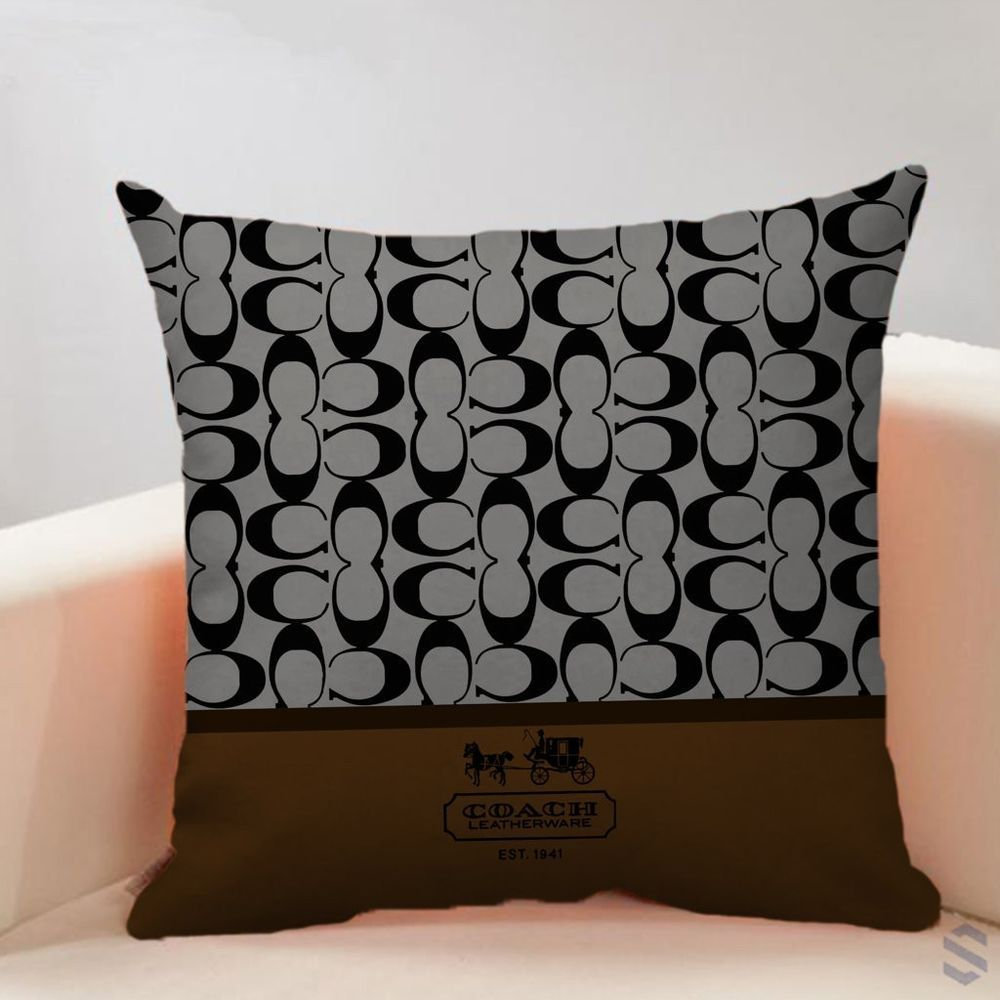 Details about new custom coach brown cc gray free shipping pillow