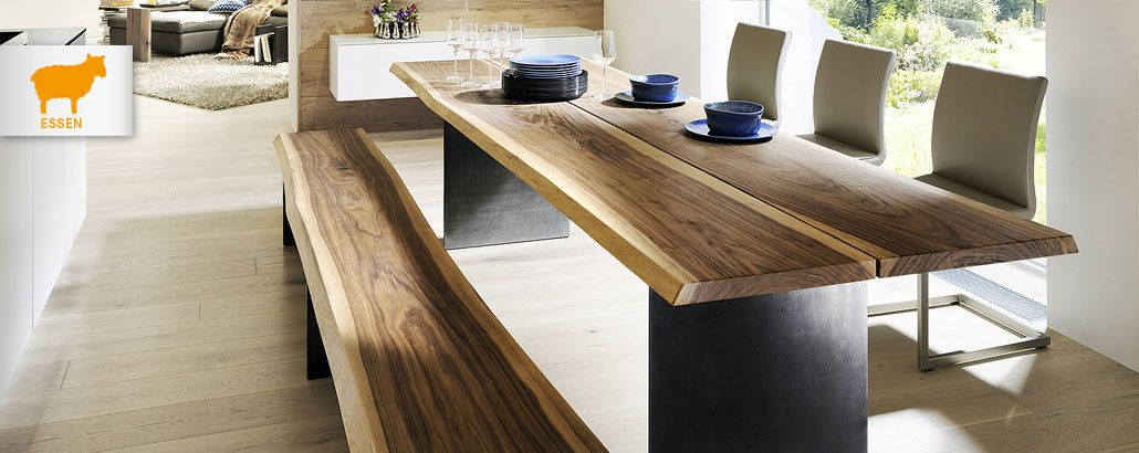 handgefertigte Möbel aus Massivholz, Holzmöbel, Möbelhaus Messmer - esszimmer im wohnzimmer