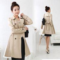 2011 mujeres del otoño de primavera y otoño recién llegado prendas de vestir exteriores larga del diseño del foso delgado