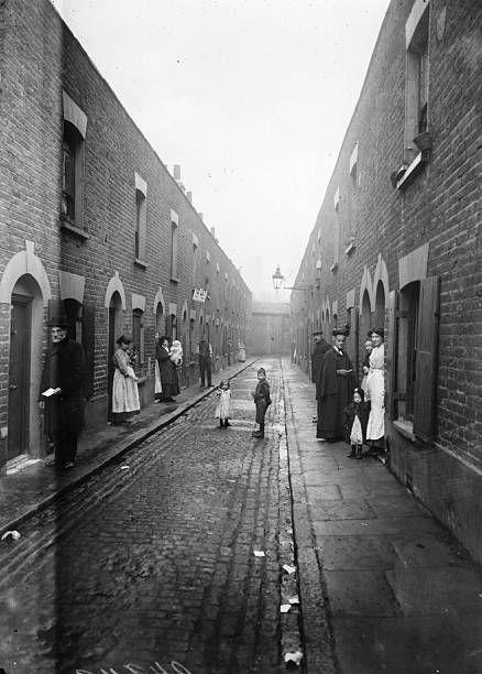 East End London: A Slum Street In London's East End.