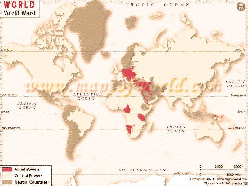 World war 1 map a history map homeschool geography world war 1 map a history map gumiabroncs Gallery