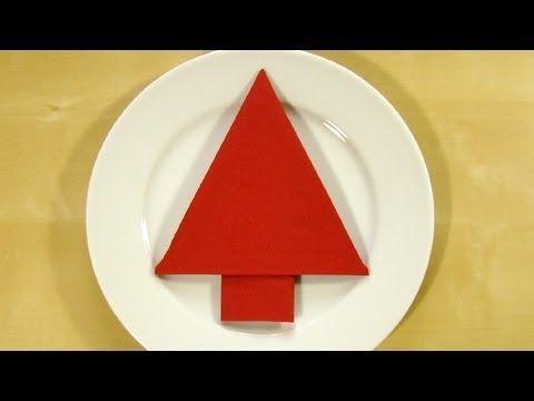 Napkin folding Christmas Tree - How to fold napkins for christmas