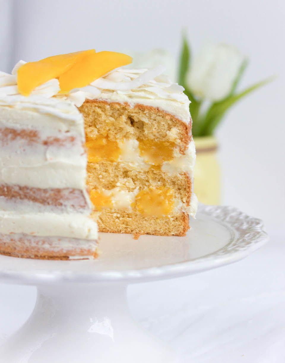 Kokos Mango Torte Mit Weisser Schokolade Rezept Backen Kuchen Muffins Kreativ Sommerlich Beeren Himbeere Kuchen Und Torten Kuchen Kuchen Runde Kuchen