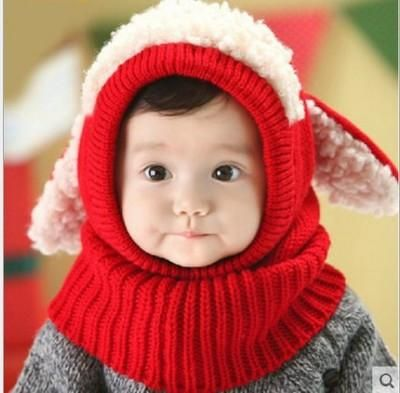 a5b204a055587 Cute Winter Face Mask Windproof Knit Hat for Baby Girl Boy Cold Weather  Facemask
