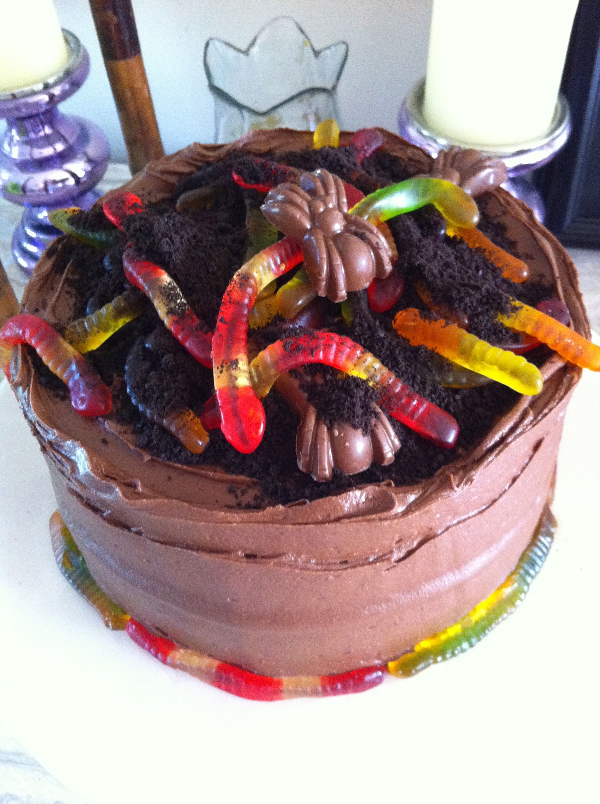 6th Birthday Worms Cake Google Search Kaels Birthday