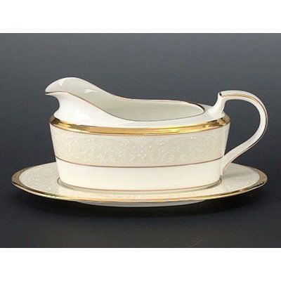 Noritake White Palace 2-Piece Gravy Boat With Tray, 2015 Amazon Top Rated Gravy Boats & Stands #Kitchen
