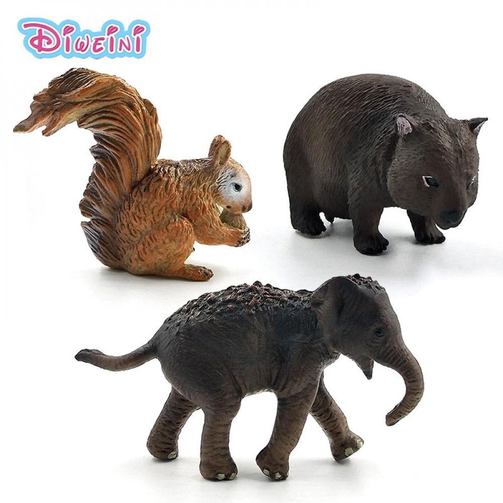Simulation Small Squirrel Elephant Wombat Forest Animal Model