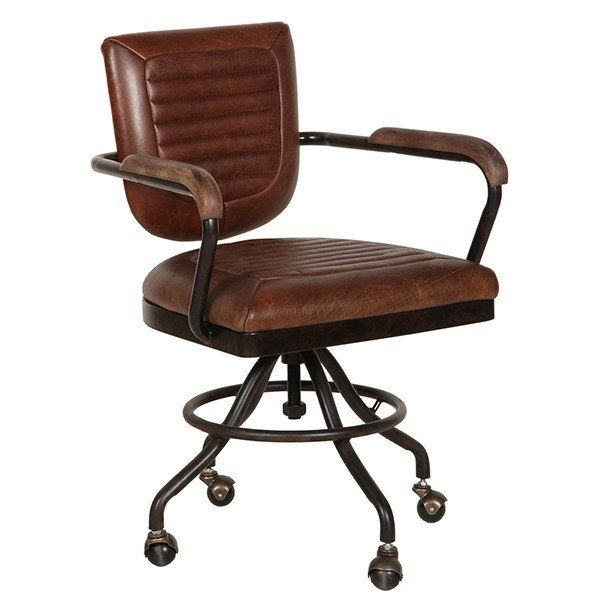 Bedroom Chair On Wheels Cool Computer Chairs Mustang Brown Leather Office With And Armrest