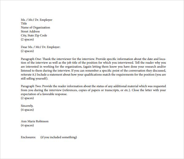 thank you letter employer download free documents pdf word boss - sample thank you letter format