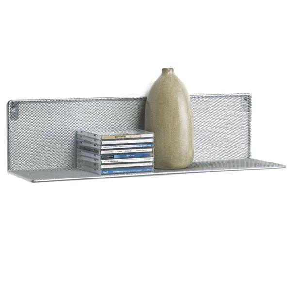 Silver Mesh Wall Shelf | Wall mounted shelves, Mounted shelves and ...