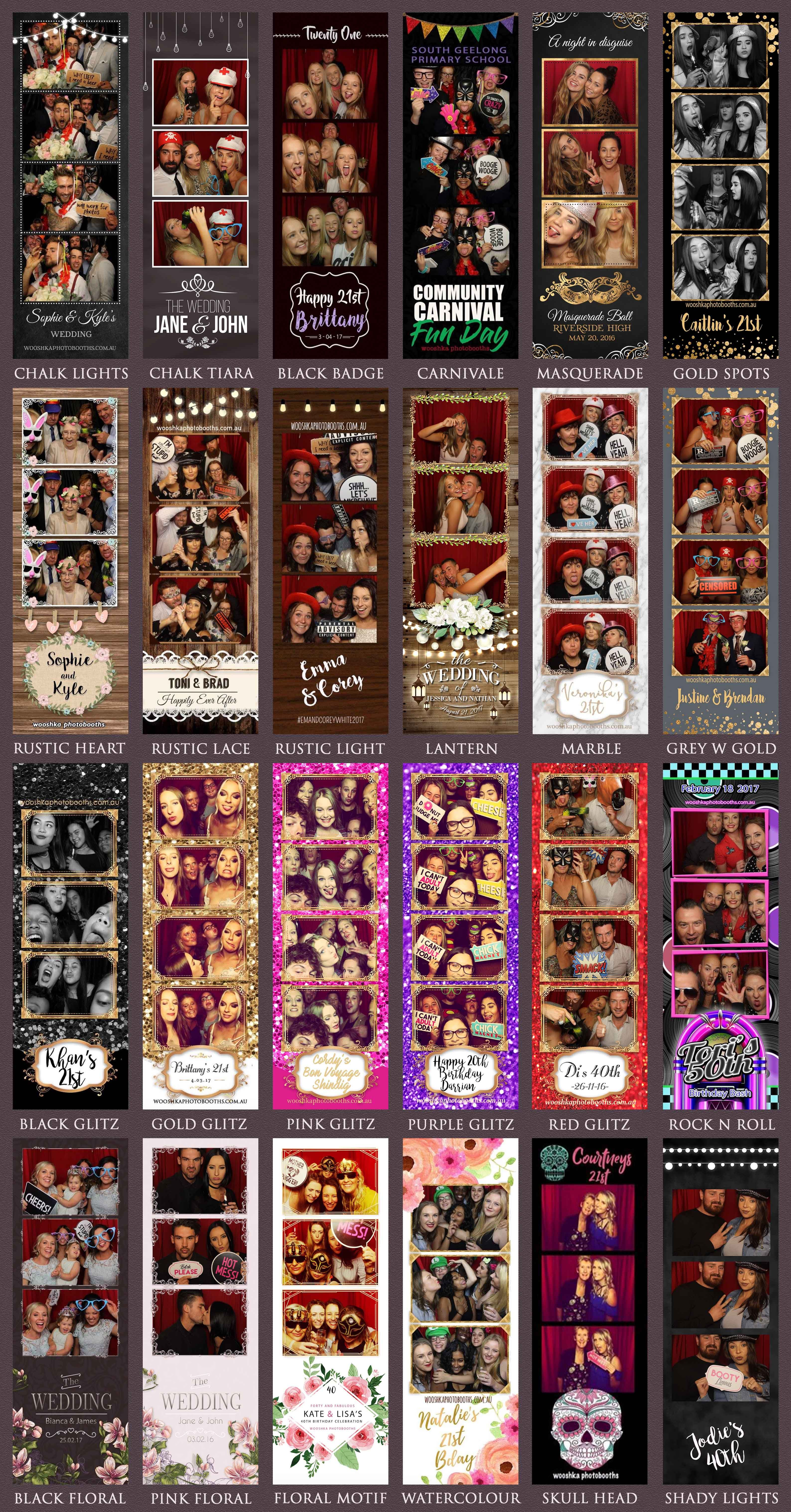Photo Booth Photostrips -  how gorgeous our these photostrip options