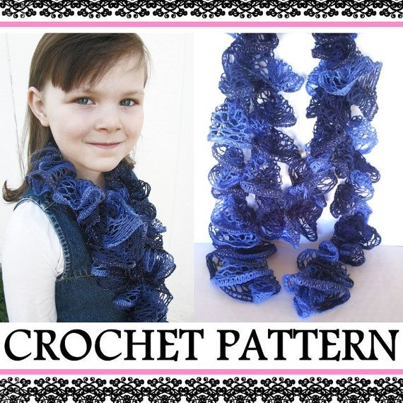 Ruffle Scarf PATTERN - INSTANT Download - How to Crochet a Lace ...