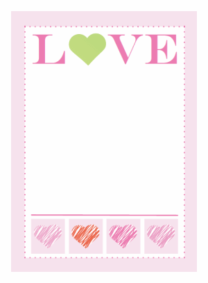 photo regarding Free Printable Note Card Template titled Printable Take pleasure in Be aware Card -♥- Diversified Valentines