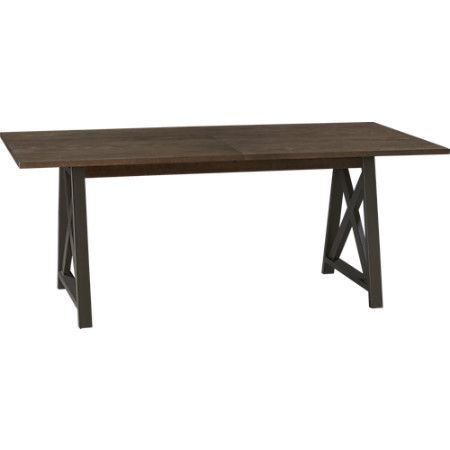 Crate And Barrel Metra Extension Dining Table 76long X