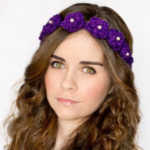 Daisy Flower Crown Crochet Pattern #crownscrocheted