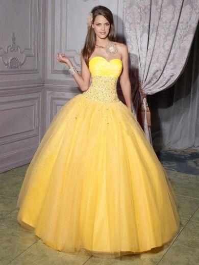 Yellow Quinceanera Dresses Vestidos Longos Vestidos
