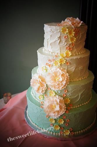 Blue Ombre Petal Cake Tutorial - CakeCentral.com