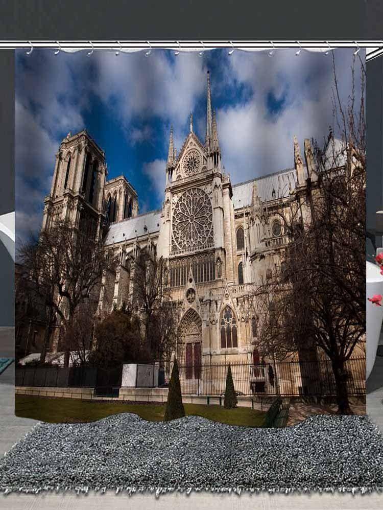 Notre Dame De Paris Print Shower Curtain Ad Affiliate De