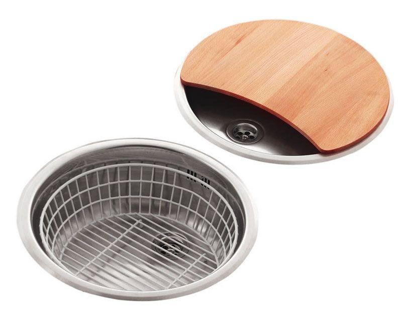 Reginox Round Bowl Kitchen Sink and Drainer Set - RL216S | Bowl sink ...