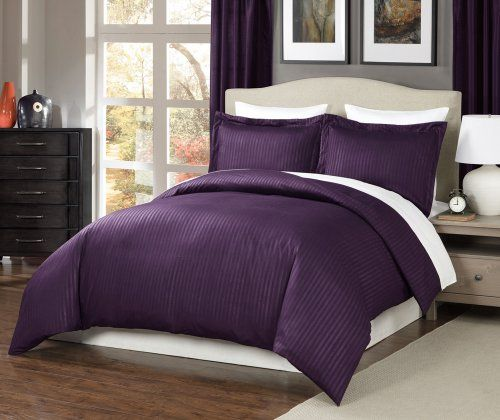 Chezmoi Collection 3-pieces Hotel Dobby Stripe Duvet Cover Set, Queen, Purple Chezmoi Collection http://www.amazon.com/dp/B00KFSGFP6/ref=cm_sw_r_pi_dp_MNhLtb0R2SKN7TWW