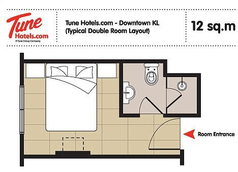 Low Cost Tune Hotel To Open In London With 1p A Room Promotion Hotel Room Plan Bedroom Hotel Small Hotel Room