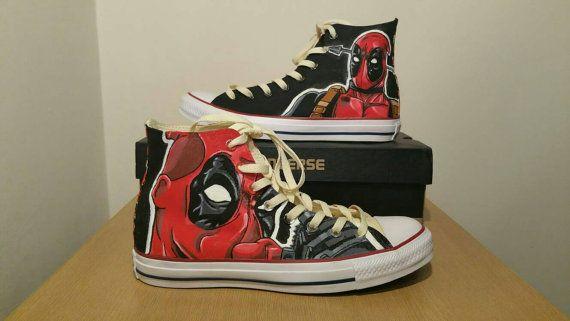 Limited edition Deadpool Converse Chuck Taylors  453a38d92f
