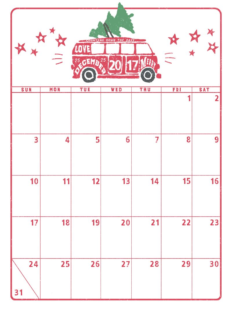 image regarding December Calendar Printable With Holidays identify Marie Lottermoser Totally free Printable Calendars Holiday vacation 2017