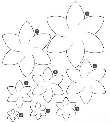 UNUSUAL BOUQUETS OF FELT (7) #feltflowertemplate