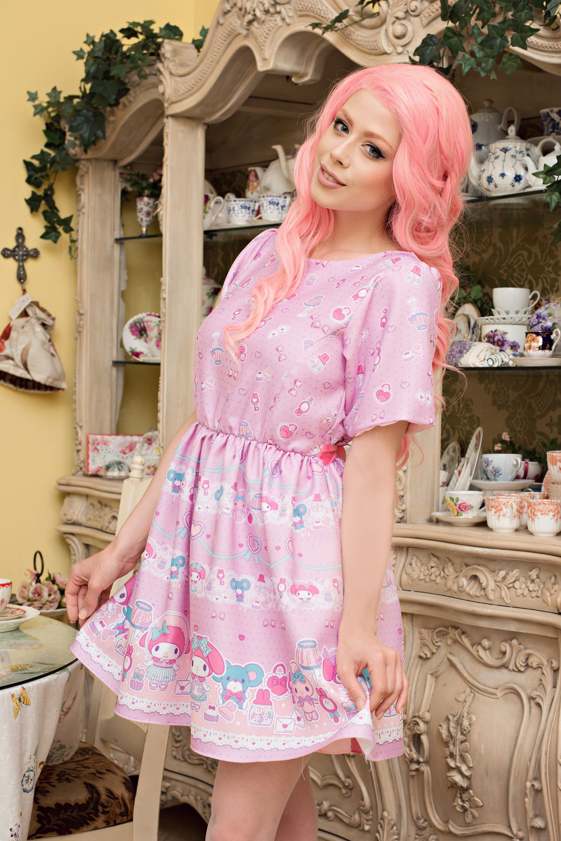 japanla x my melody dress me up tea party dress my melody collection. Black Bedroom Furniture Sets. Home Design Ideas