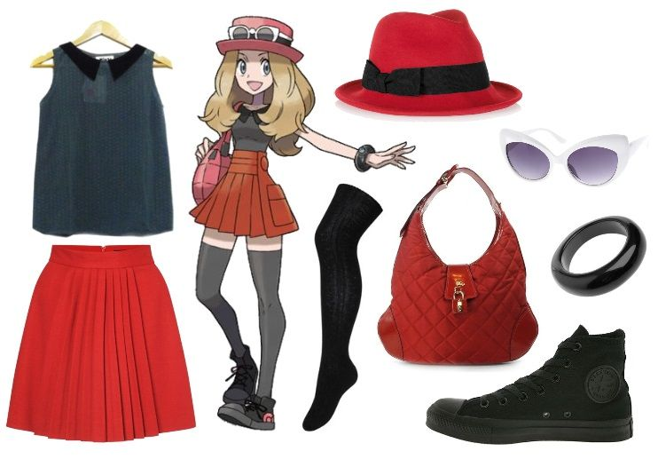 red trainer outfit
