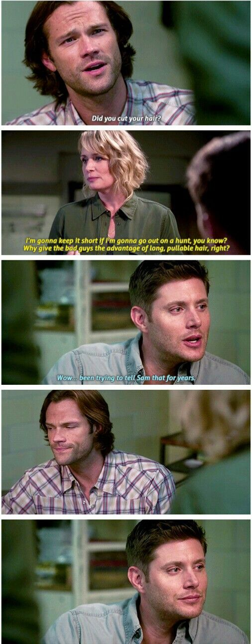 """12x03 """"The Foundry""""     I wonder if this was Jensen or scripted...."""